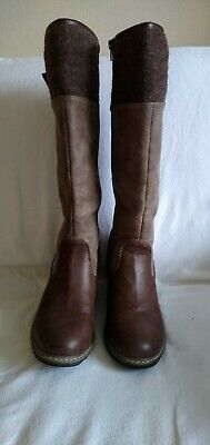 Pavers Brown Fur Lined Knee High Boots Size 5 / 38 *excellent Condition* • 7.99£