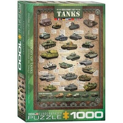 [EG60000381] History Of Tanks (1000 Piece Eurographics Jigsaw Puzzle) Military • 14.97£