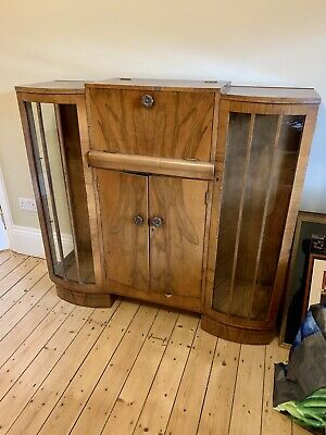 Antique Vintage Cocktail Drinks Cabinet. Teak Veneer • 125£