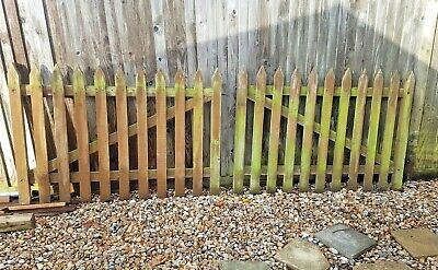 Pair Of Weathered Solid Oak Garden Gates ~ 5 Ft Wide Each • 180£