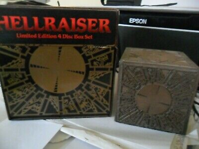 HELLRAISER Limited Edition 4 Disc Box Set Puzzle Cube Signed By Doug Bradley • 25£