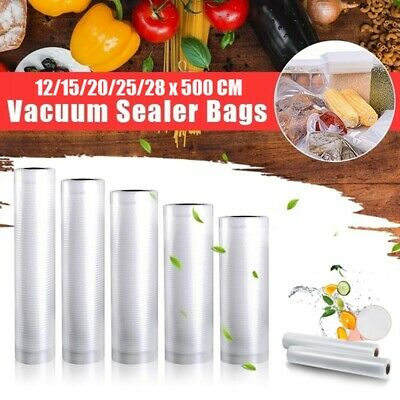 1 Roll Strong Vacuum Sealer Food Bags Textured Pouches Seal Storage 5 Sizes • 4.99£