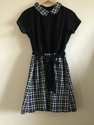 WALG,ART Plaid Smock Dress With Black Short Sleeved Top And Plaid Skirt 10 • 7.50£