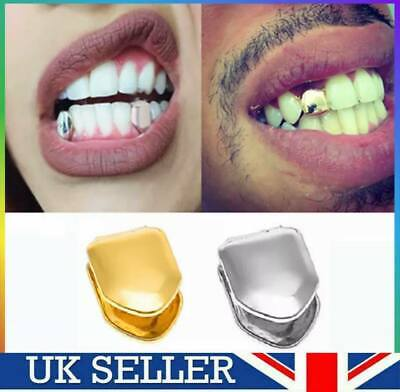 Lit Gold/Silver Grill Rapper Iced Out Tooth Plated Teeth Cap Grill Bling Fashion • 3.49£