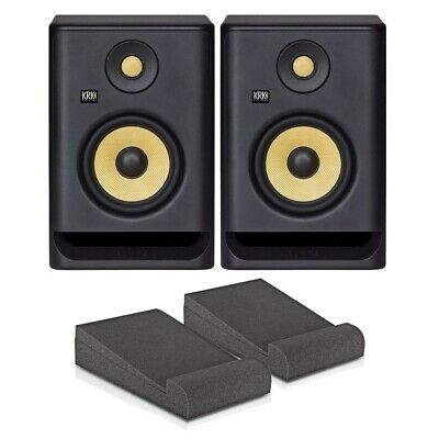 KRK Rokit 5 Pair (RP5 G4 - Latest Model) + Foam Isolation Pads • 220£