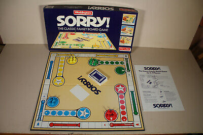 Sorry! Classic Fun Family Board Game Vintage Waddingtons 1988 Complete Age 5+ • 18.99£