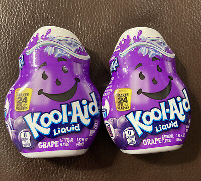 KOOL-AID GRAPE  Liquid Water Enhancer (24 Servings X 2 Bottles) Fast FREE Ship • 11.49£