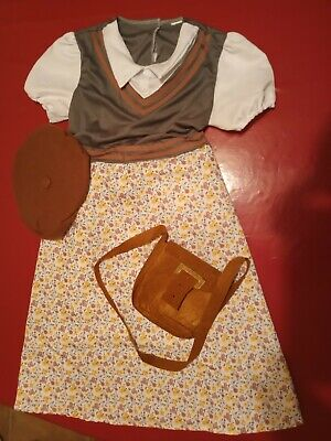 WW2 School Girl Evacuee Costume To Fit 10 Year Old • 1.99£