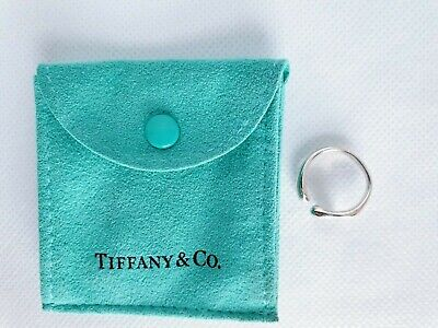 Tiffany & Co Full Heart Ring Solid 925 Sterling Silver (UK Size I - I½) • 99.99£
