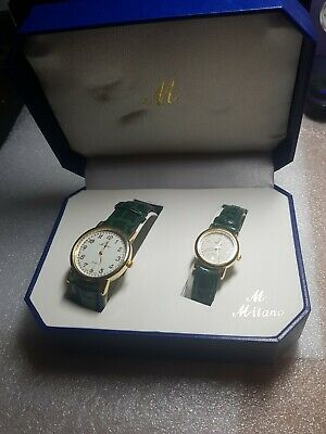 Milano Designer 2 Piece Matching Watch Set. Boxed. His & Hers. • 4.99£