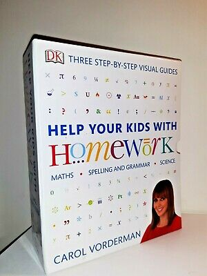 Carol Vorderman 3 Books Collection Set Help Your Kids With Maths, English, Times • 14.99£