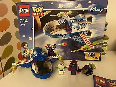 LEGO Toy Story Buzz's Star Command Spaceship 7593 USED 100% Complete • 6.50£