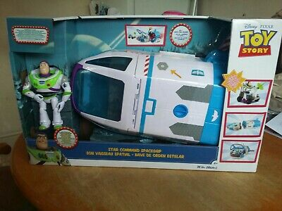 TOY STORY 4 Buzz Lightyear Star Command Spaceship Playset For Age 3 + • 69.99£