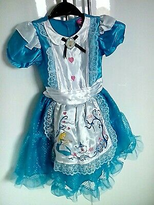 Girls  Disney Alice In Wonderland Costume Dress Age 3-4 Years From George • 2.20£