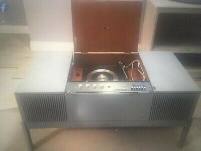 HMV His Masters Voice Vintage Stereo Radiogram Record Player Retro Radio MP 2411 • 20£