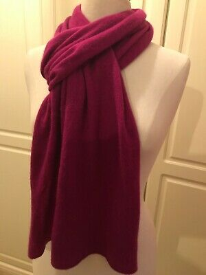 MARKS AND SPENCER AUTOGRAPH PURE CASHMERE SCARF. KNIT. Soft Pink • 12.50£