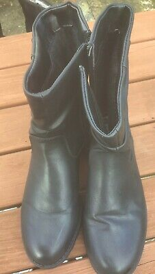 Womens Pavers Fur Lined Ankle Boots. Black Size 7 • 5.30£
