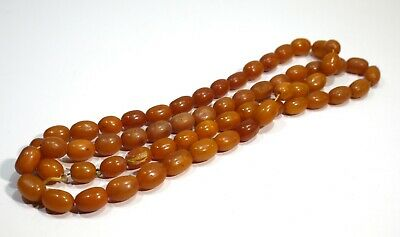 String Of Original Victorian Antique Butterscotch Coloured Amber Beads 34 Inches • 399.99£