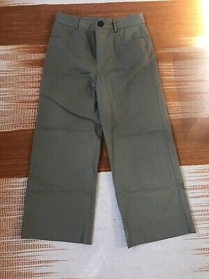 Zara  Women's Khaki Cargo Wide Cropped Trousers Size Small- Good Condition • 9£