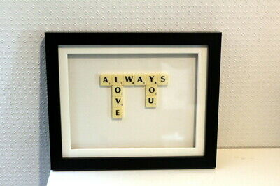 Scrabble Always Love You Picture Frame. • 5£