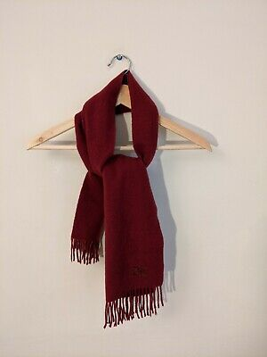 Burberry 100% Pure Cashmere Red Scarf • 47£