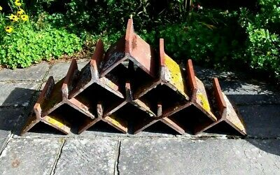 Victorian Red Clay Reclaimed Fluted Roof Ridge Tiles X 10 • 50£