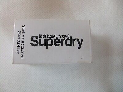 Superdry Steel Male Cologne For Men, A Woody Chypre Fragrance 25ml • 9.95£