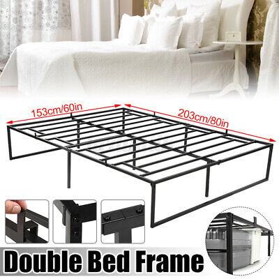 $ CDN137.39 • Buy QUEEN Size Platform Bed Frame 14Inch Mattress Steel Foundation Metal Heavy Duty