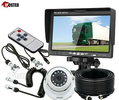 AU158 • Buy Caravan 4 PIN Rear View 7  Monitor+CCD Reversing Camera+Trailer Suzy Coil Cable
