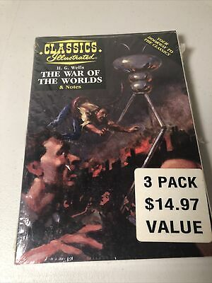 War Of The Worlds Classics Illustrated Pack Of 3 Vintage Collectible NEW SEALED • 14.31£