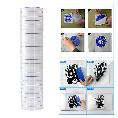 £4.27 • Buy Vinyl Transfer Paper Tape Roll   Adhesive 12 X60 Inch Clear Alignment Grid