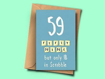 £2.95 • Buy Funny Card For 59th Birthday Sister Grandmother Mum Aunt Friend Dad Brother