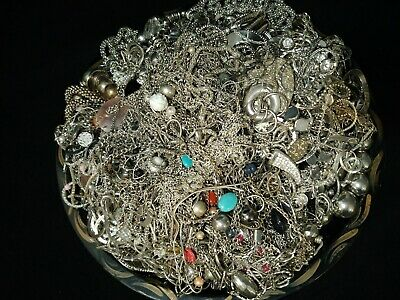 $ CDN59 • Buy Estate Jewelry Lot Unsearched Untested Silver Tone 11.40 Pounds - Vintage To Now