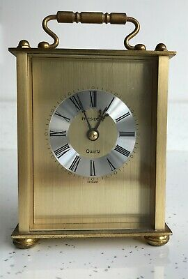 President - Brass - Quartz - Carriage Clock - German Movement - Battery Operated • 3.40£