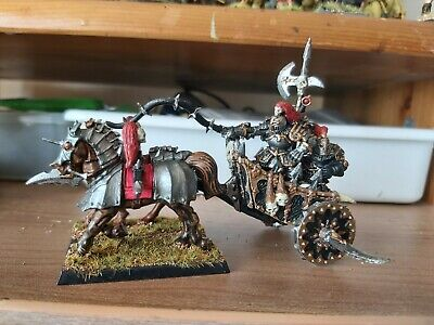 Chaos Chariot Metal Warhammer Fantasy Incl. 2 X Horses & 2 X Crew. Well Painted • 9.95£