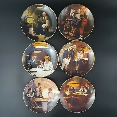 $ CDN61.24 • Buy Set Of 6 Rockwell's Light Campaign Series Collector Plates Norman Rockwell