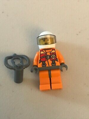 Lego Minifigure - Town Deep Sea Diver With Oxygen Canister And Helmet • 1.95£