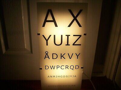 Light Up Opticians Eye Chart. Make Stunning Wall Light. View/Pick Up Edinburgh. • 55£