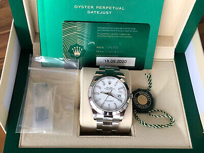 $ CDN11381.67 • Buy NEW Rolex Datejust SS White Dial Oyster Bracelet Watch 41MM 126300 Box & Papers