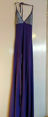 Gorgeous Custom-made Long Purple Lapdancing Dress With Thigh Slit • 14£