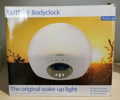 Lumie Bodyclock Active 250 Wake-Up Light, Alarm Clock With FM Radio (No Power) • 6.87£