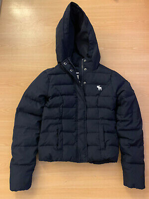 Abercrombie GIRLS Fleece Lined Jacket Puffer Coat Down Medium Age 8-10 • 14.99£