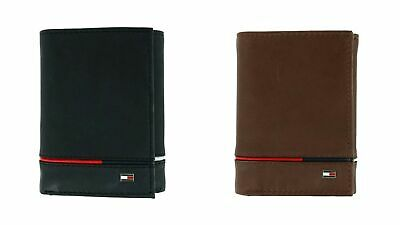 $ CDN31.70 • Buy Men's Tommy Hilfiger Trifold Leather RFID Protection 6 Card Passcase Wallet