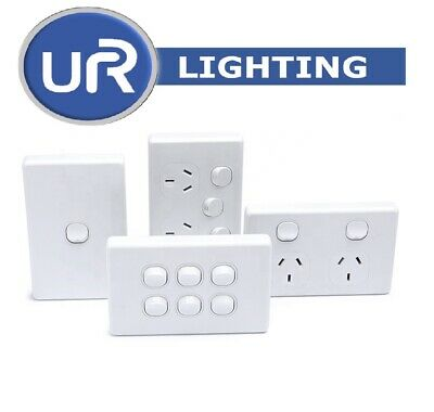 AU35 • Buy 10 X 10A Amp 250V Double Power Point Wall Socket Outlet GPO Light Switch 1,2,3,4