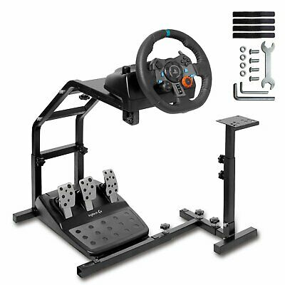 Racing Simulator Steering Wheel Stand Holder Gaming For G29 G920 T300RS T80 UK • 59.99£