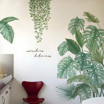 Home Green Plant Wall Stickers Tropical Leaves PVC Decal Nursery Art Mural Decor • 6.29£