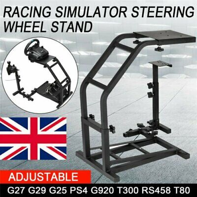 Racing Simulator Steering Wheel Stand Gaming For G29 G920 T300RS XBOX ONE PS4 UK • 59.99£