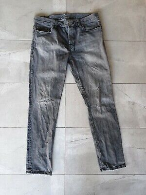 AU90 • Buy Ksubi Jeans Chitch 36 Worn Grey Distressed Black Skinny Slim Pants 34 Blue