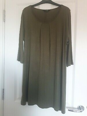 Yours Clothing Khaki Longline Top Size 18 • 4.99£