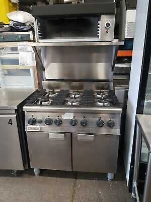 Zanussi Commercial 6 Burner Gas Cooker & Oven With Salamander Grill On Top • 1,200£